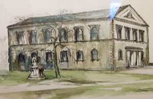 A watercolour picture of the Chapel sometime in the middle of the last century